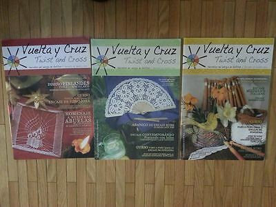 Vuelta y cruz 3 issues per year of Twist and Cross Bobbin Lace info as in a book