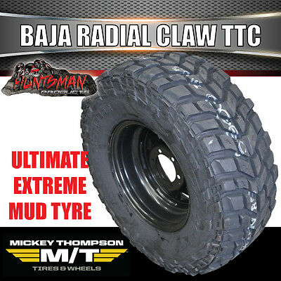 "15"" Black Steel Wheel & 31X10.5R15 L/T Mickey Thompson Baja Claw Tyre 31 10.5 15"