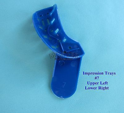 Disposable Dental Impression Trays Perforated #7 Upper Left / Lower Right 12 Pcs