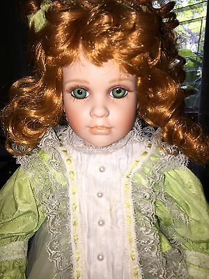 "18.5"" Show Stoppers Porcelain Doll 760/2500 Red Hair Green Eyes Dolls"