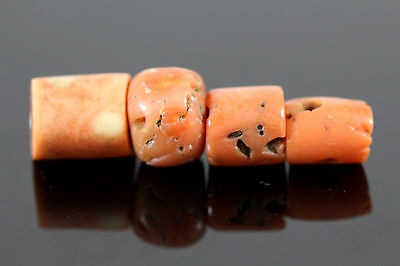 Antique 1000 Years Old Mediterranean Red Coral Loose Beads 仿古珊瑚珠