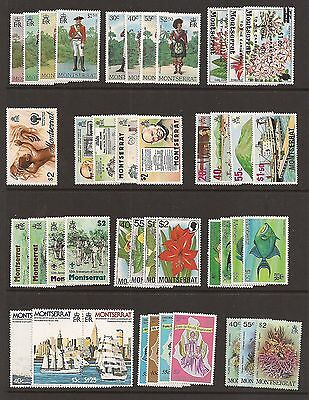 Montserrat- Lovely selection of unmounted mint 1970's sets