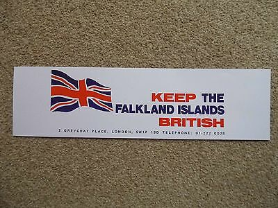 """Quality Reproduction Of Original 1982  """"KEEP THE FALKLANDS BRITISH""""  Window Sign"""