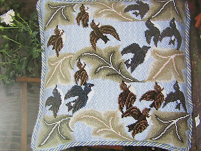 Beth Russell BIRD & LEAF cushion tapestry needlepoint chart pattern only
