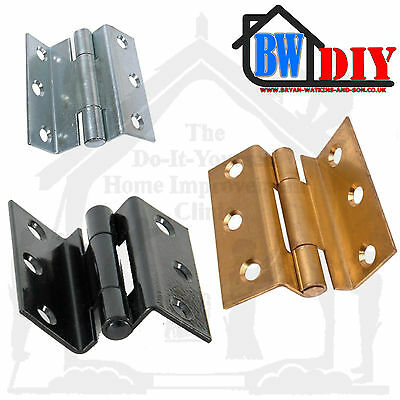 "Heavy Duty Storm Proof Hinges For Wooden Frame Casement Windows 2½"" Eb, Bzp,Exb"