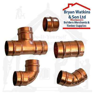 10mm Solder Ring Copper Yorkshire Plumbing Pipe Fittings Pre Soldered Microbore
