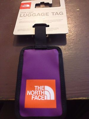 The North Face PURPLE Luggage Tag BNWT label suitcase TNF Name Address Travel UK