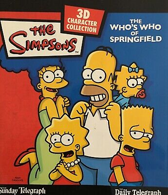 Simpsons Who's Who of Springfield 3D Character Collection Complete Set
