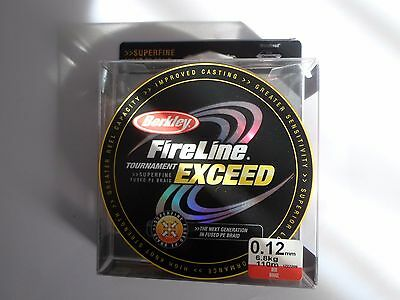 TRESSE berkley fireline tournament exceed 110m 0.12mm 6,8 kg kg rouge