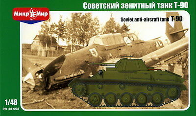 1:48 Mikro Mir #48-008 T-90 Soviet anti-aircraft tank, with photo-etched parts