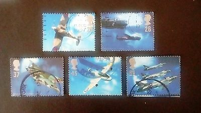 GB Set of 5 used stamps Architects of the Air 1997  20p, 26p, 37p, 43p &63p