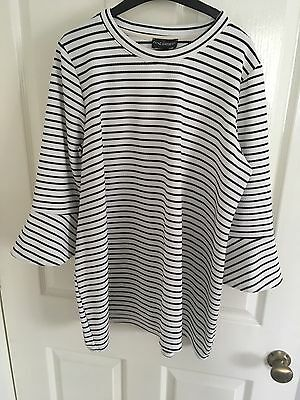 Next Maternity Top Size 20 Striped Bell Sleeve