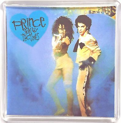 Prince Sign of the Times Under The Cherry Moon movie poster square fridge magnet