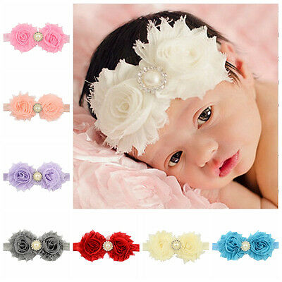 Cute Fitting Headband 1Pcs Baby Girl Lace Pearl New Hair Band Flower