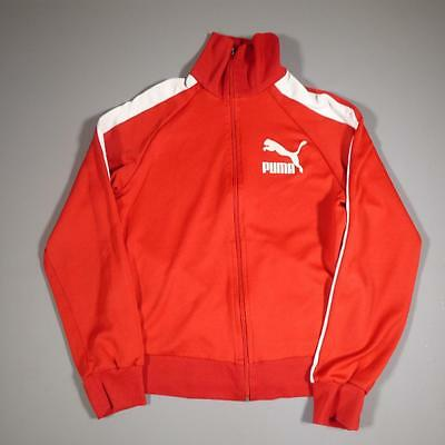 Mens PUMA Vintage 1990s Red Polyester Tracksuit Top Jacket Large #E1671