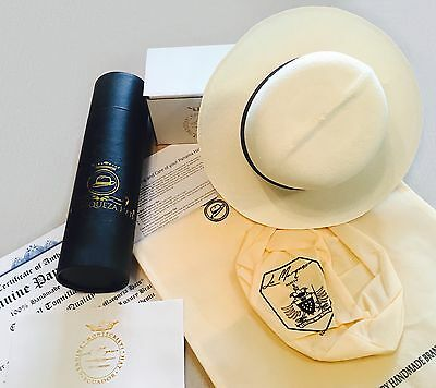 "Luxury Genuine Panama Hats ""Optimo"" Rollable Ecuador Super Fino Sombrero Panama"