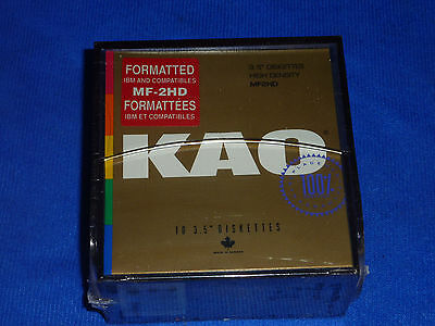 "KAO 3.5"" formatted diskettes"