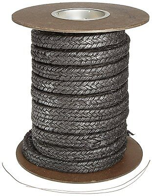 """Palmetto 1607 Series Flax Compression Packing Seal, Black, 3/4"""" Square, 10"""