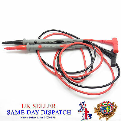 SMD Multimeter Meter Test Leads 1000V 10A Cable Probe Copper Sharp Needle DMMS
