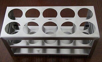 "Stainless Steel Test Tube Rack, 10 Holes, 30 Mm 1 1/8"", 50 Ml"