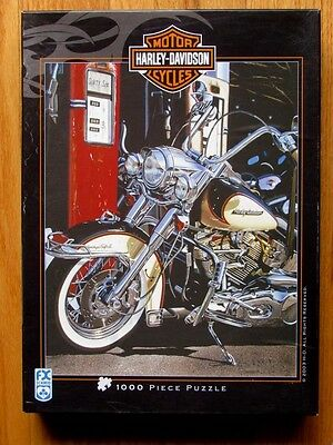 """Harley Davidson """" Heritage Softail """" Puzzle 1000 pc by F X Schmid"""