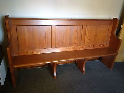 Pitch Pine Church Pew - late Victorian or Edwardian