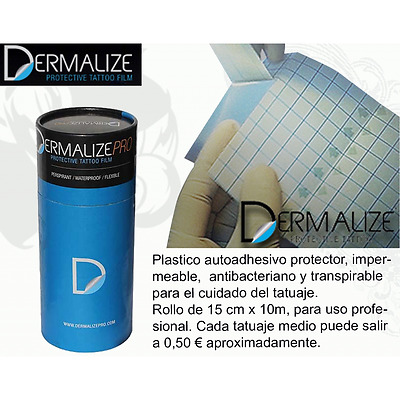 Film DERMALIZE PRO ROLL - Rollo de 15cm x 10m Tatuaje Tattoo Envio 24/48 horas