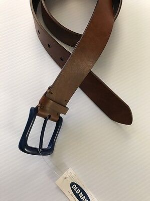 NEW Boy's Old Navy BELT Size S Small NWT Brown w/ Blue Buckle