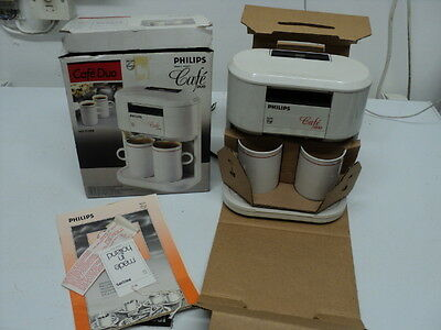 Vintage Philips HD5190 Tea for Two Cafe Duo Tea / Coffee Maker Never been used