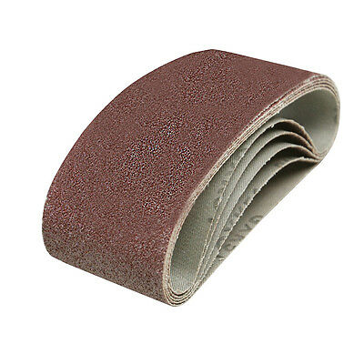 5 x Very Coarse 40 Grit Sanding Sandpaper Belts Fits All 75 x 533mm Sanders