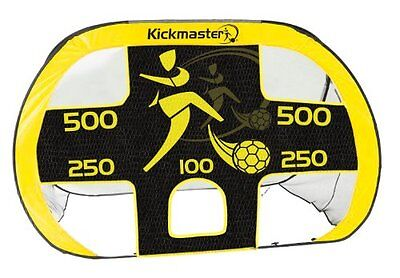 Kickmaster 2-IN-1 Large Quick Up Goal And Target Shot -5+ Years