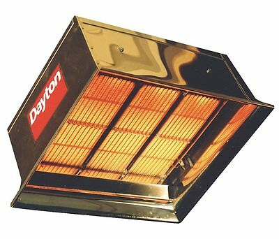 """Commercial Infrared Heater, NG, BtuH Input 90,000, 1/2"""" NPT, 120VAC"""