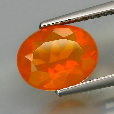 0.89Cts BEWITCHING!! HI-END Sparkling Natural Orange RED FIRE OPAL ETHIOPIA LU90