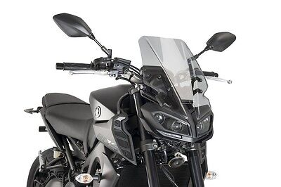 Puig Naked New Generation Touring Windscreen for Yamaha MT-09 2017 (Smoke)