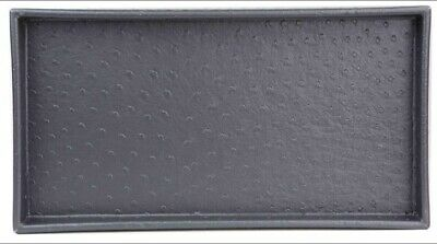"Home Basics NEW Grey Croc Leather Bath Vanity Tray 14"" x 7.5"" x 1"" - ST44765"