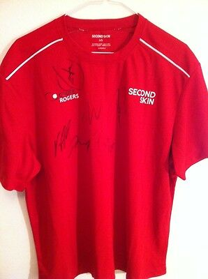 Rogers Tennis Cup Official T Shirt Autographed  Nadal,novak,murray,stan,tomas
