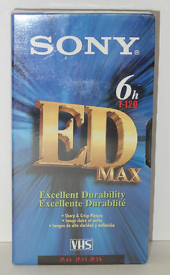 Sony 6H T-120 ED Max VHS Video Cassette Tape
