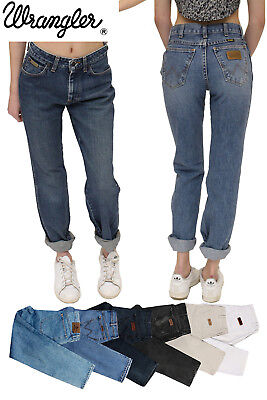 Wrangler Vintage Mom Boyfriend High Waisted Womens Jeans Grade A  26 27 28 29 30