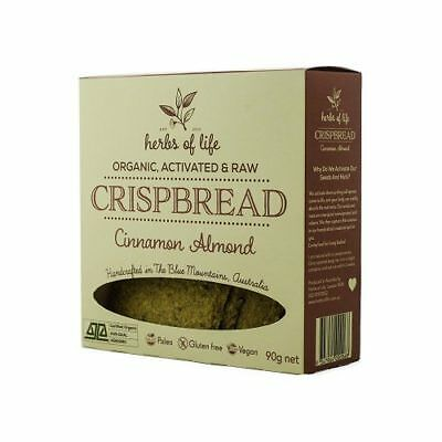 NEW  Herbs of Life Cinnamon Almond Crispbread 90g
