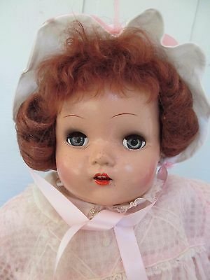 White and Pink Satin Scalloped Vintage Baby / Doll Bonnet - Excellent & So Cute!
