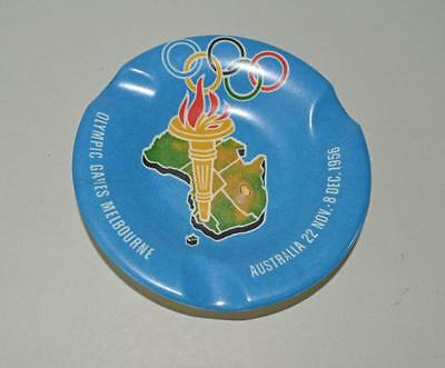 Old Plastic Ashtray From The Melbourne 1956 Olympic Games .Unused Condition.