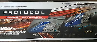 NEW SEALED IN BOX!!  Protocol's HELI-RAIDER w/ Gyro RC Helicopter 3.5 CH RC