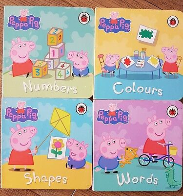 Set of 4 Peppa Pig Baby Toddler Board Books