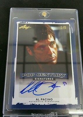 2014 AL PACINO Leaf Pop Century Auto SCARFACE GODFATHER BLUE SP Parallel 1/5