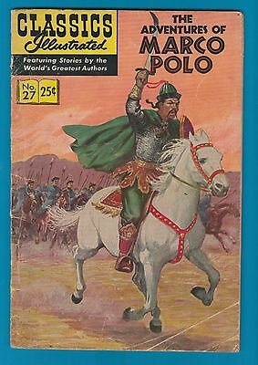 Classics Illustrated Comic Book 1969 The Adventures of Marco Polo # 27  #709