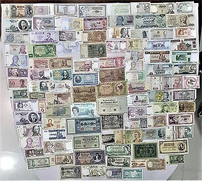 World Banknote collection. 100 Mixed. Many Old.All my collections Different# 19