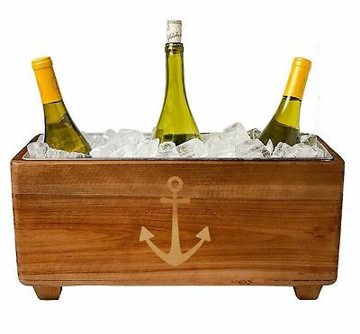 Wooden Wine Trough Ice Bucket Cooler Drink Chillers Lakeside Party Accessory New