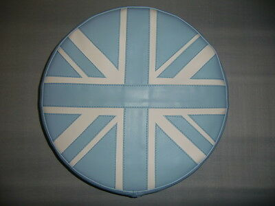 Light Blue/ Cream Union Jack Scooter Wheel Cover