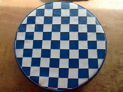 Blue/ White Check Scooter Wheel Cover