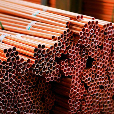 15mm x 3m Copper Pipe - Bundle of 10 Pipes British Standard - BRAND NEW